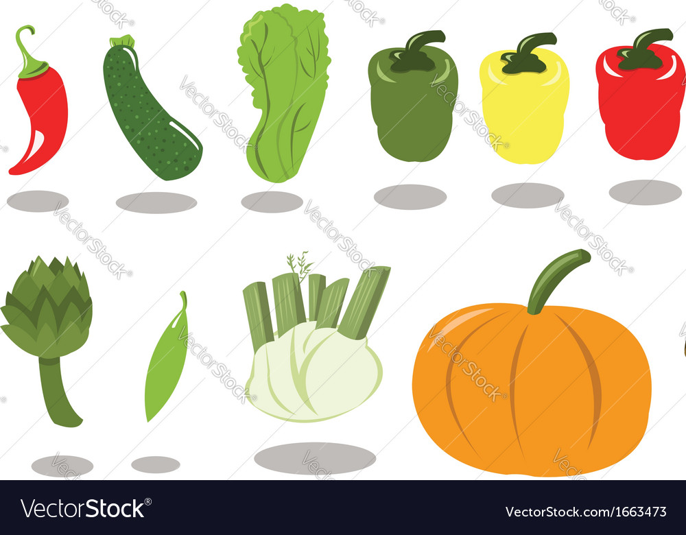 Group of vegetables part 2 vector | Price: 1 Credit (USD $1)