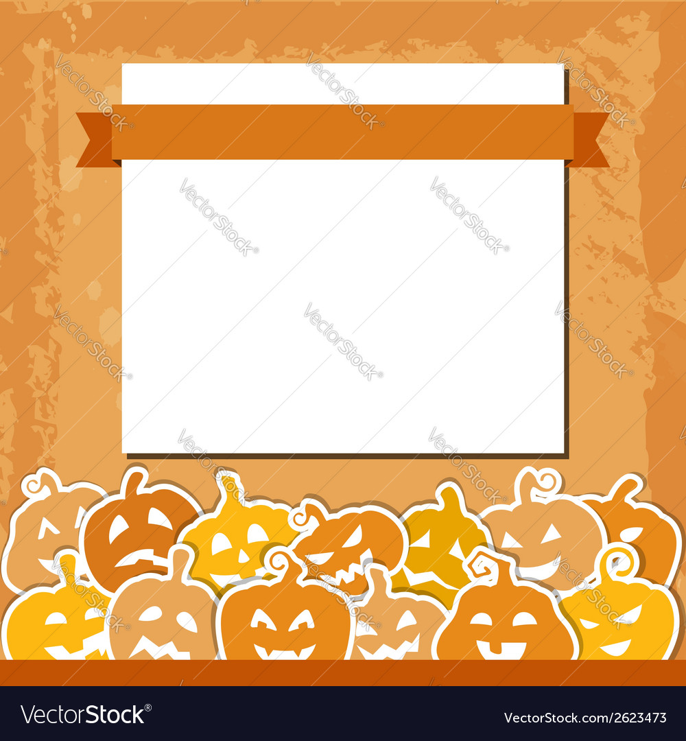 Halloween grunge background with yellow and orange vector | Price: 1 Credit (USD $1)