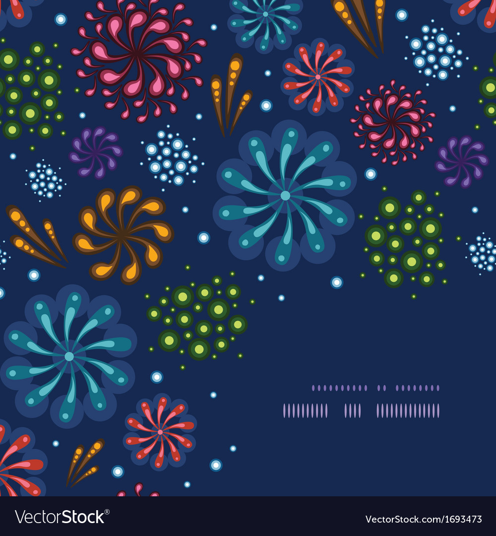 Holiday fireworks corner decor pattern background vector | Price: 1 Credit (USD $1)