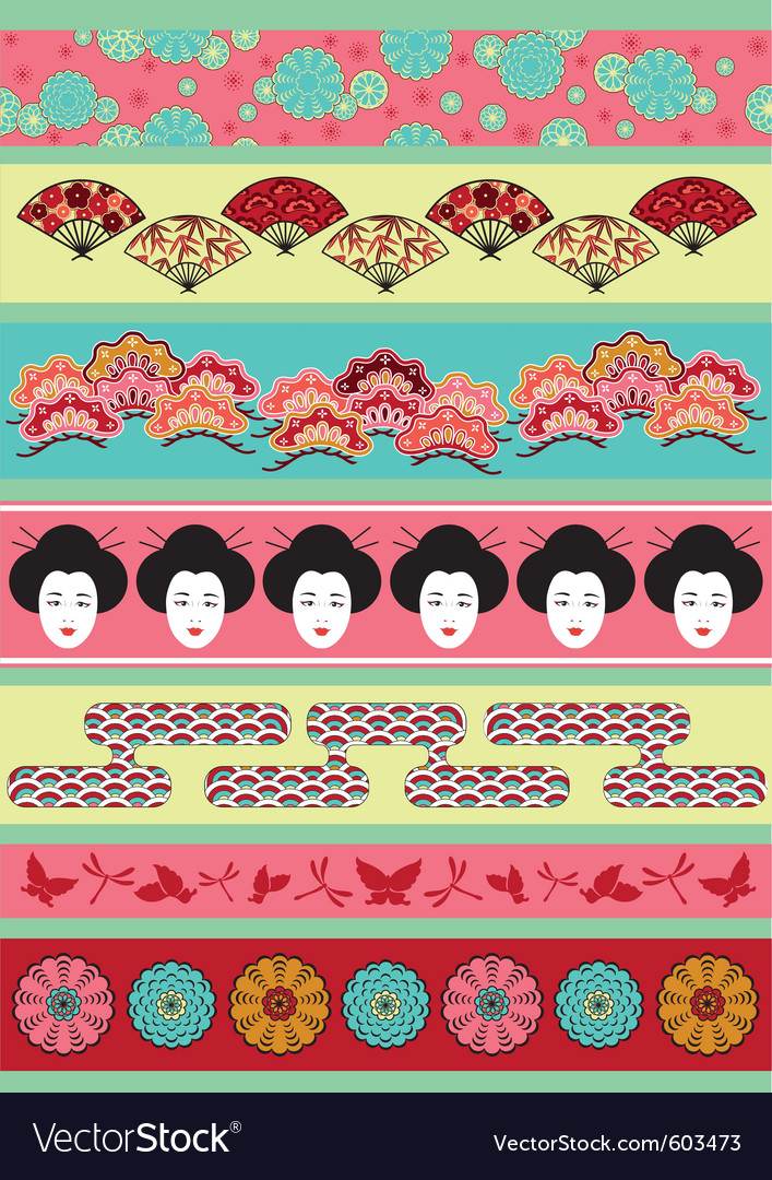 Japanese pattern vector | Price: 1 Credit (USD $1)