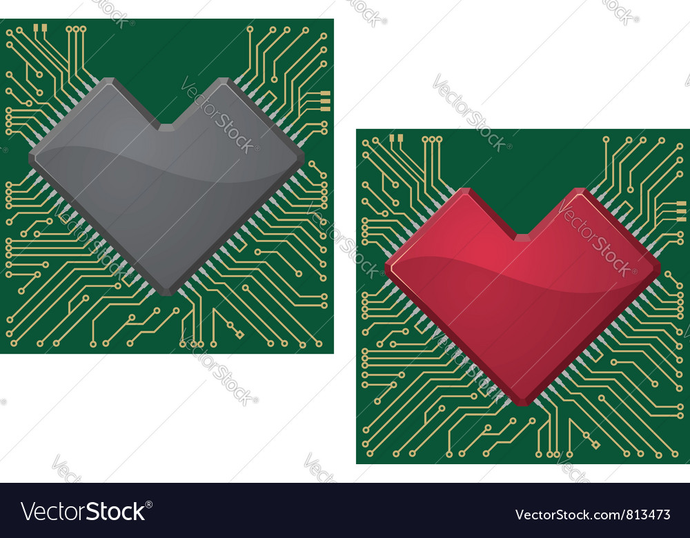 Motherboard heart vector | Price: 1 Credit (USD $1)
