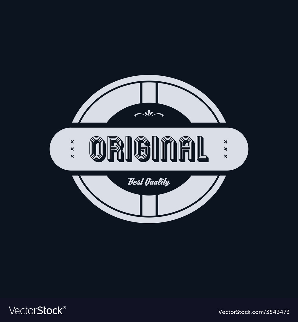 Original badge vector | Price: 1 Credit (USD $1)