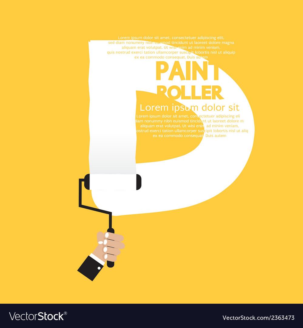 Paint roller alphabet d vector | Price: 1 Credit (USD $1)