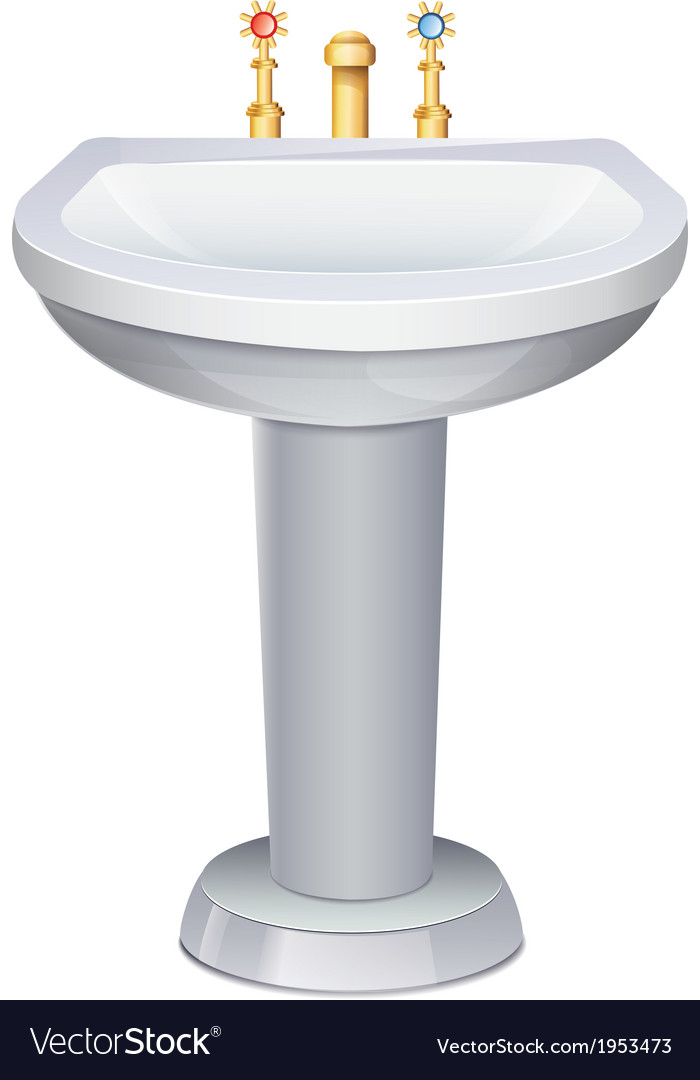 Washbasin vector | Price: 1 Credit (USD $1)