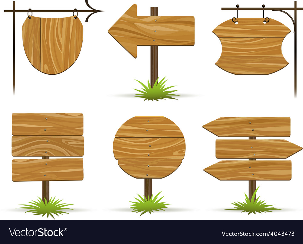 Wooden pointers and signs vector | Price: 1 Credit (USD $1)