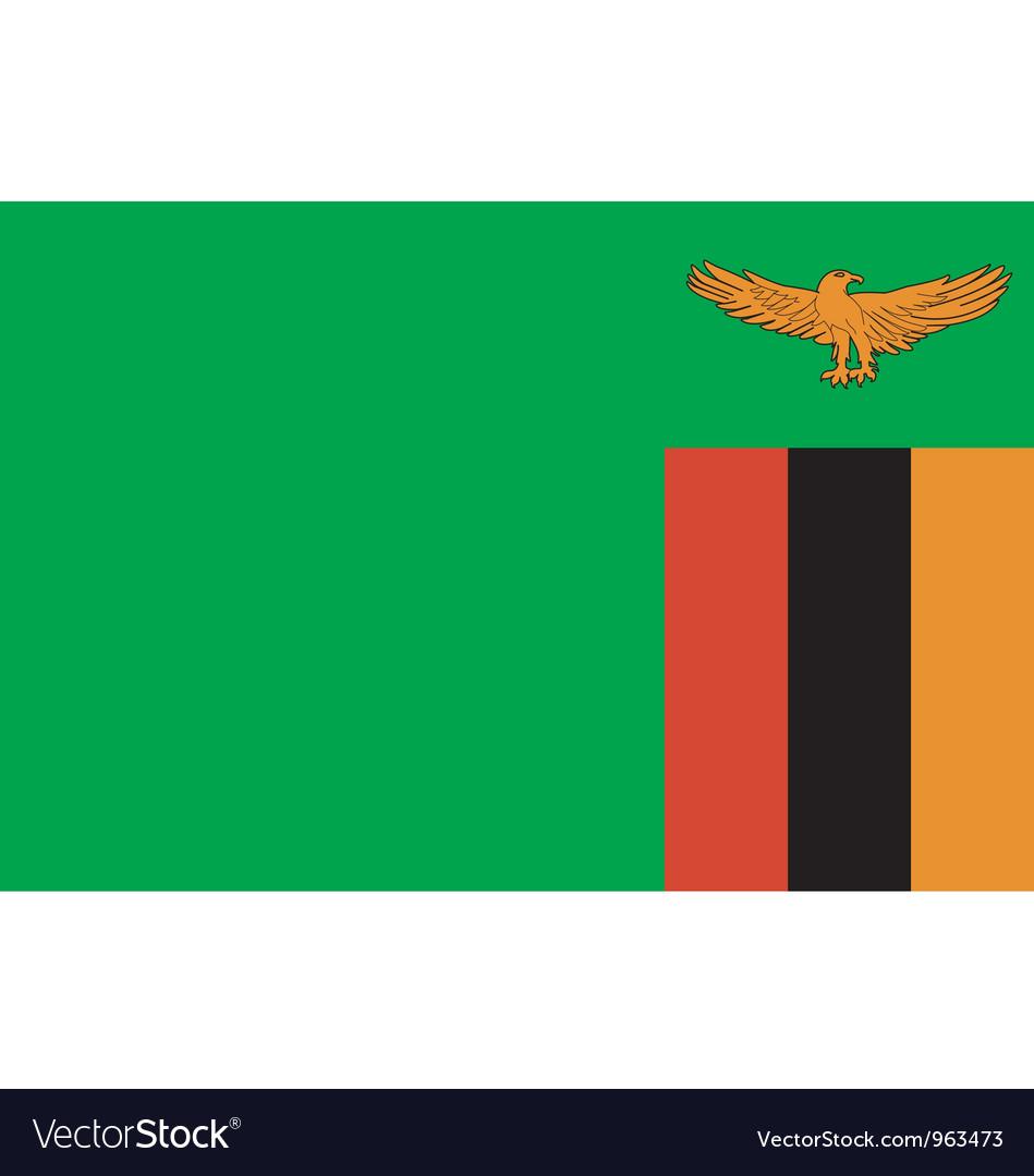 Zambian flag vector | Price: 1 Credit (USD $1)