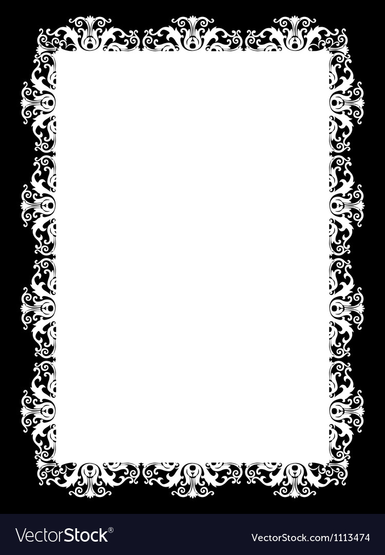 Frame white vector | Price: 1 Credit (USD $1)