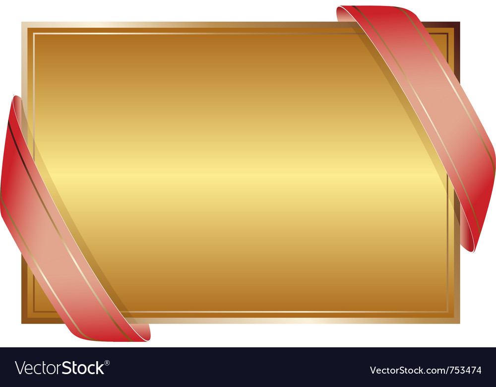 Golden background with ribbons vector | Price: 1 Credit (USD $1)