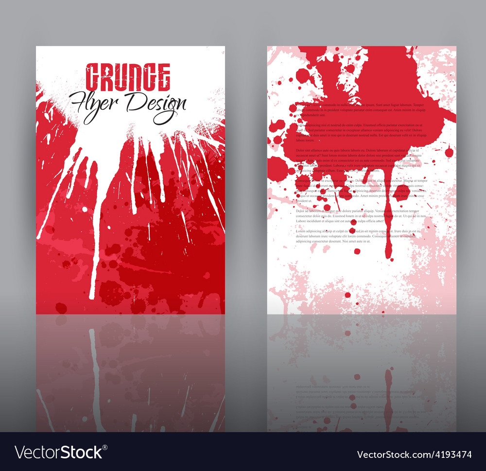 Grunge design for flyer template vector   Price: 1 Credit (USD $1)