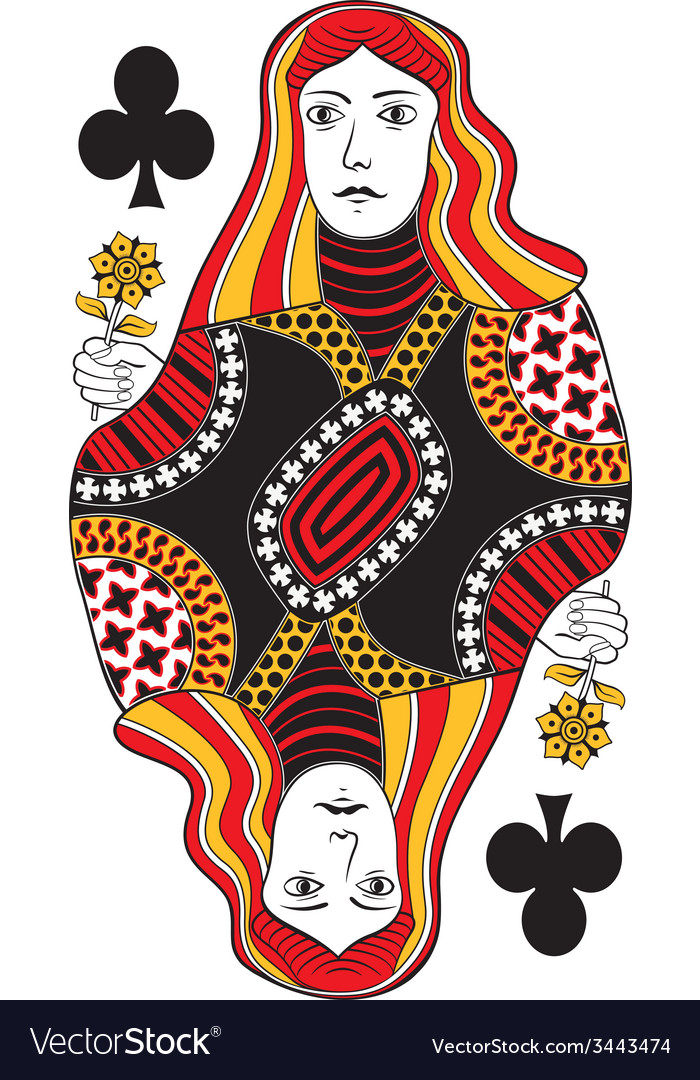 Queen of clubs no card vector | Price: 1 Credit (USD $1)