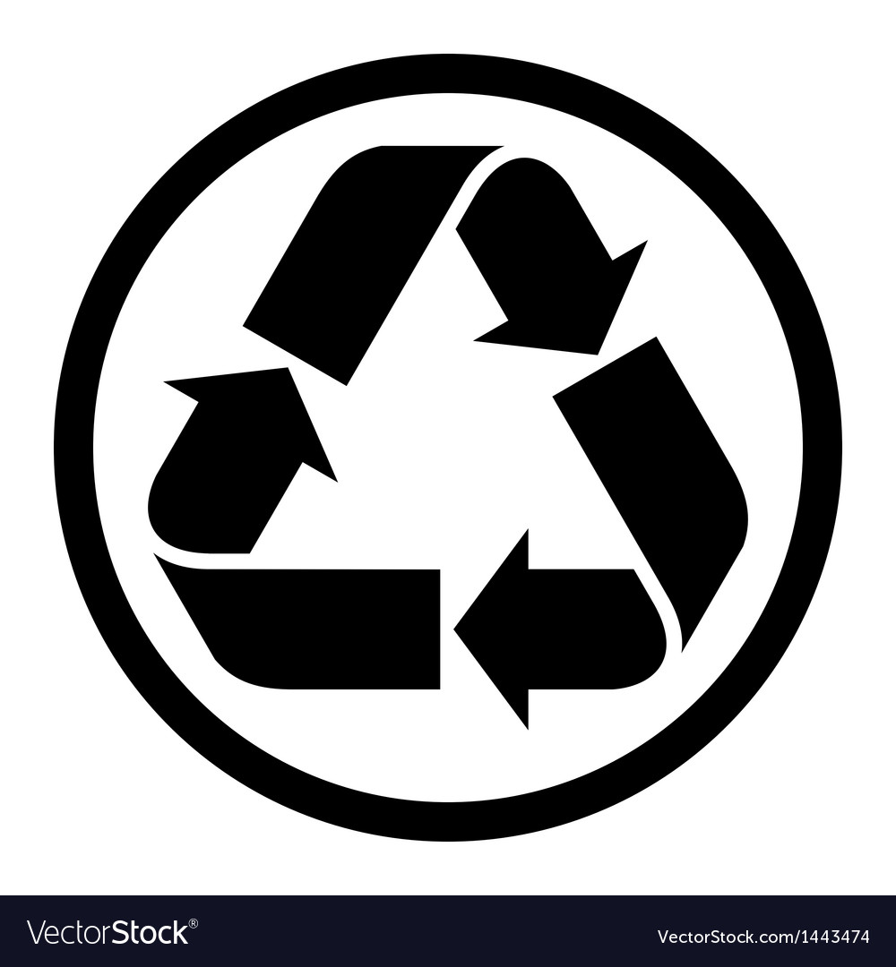 Recycle sign vector | Price: 1 Credit (USD $1)