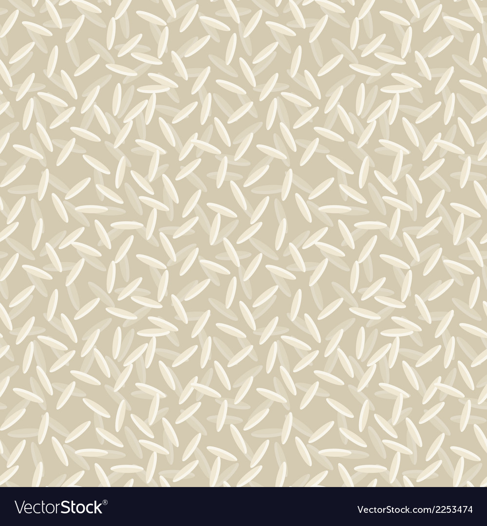 Rice seamless pattern vector