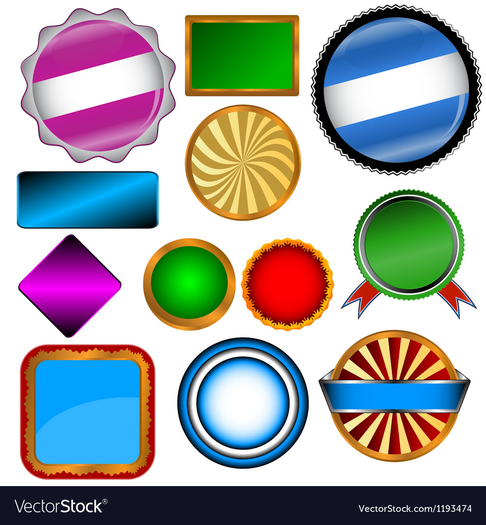 Set of various forms vector | Price: 1 Credit (USD $1)
