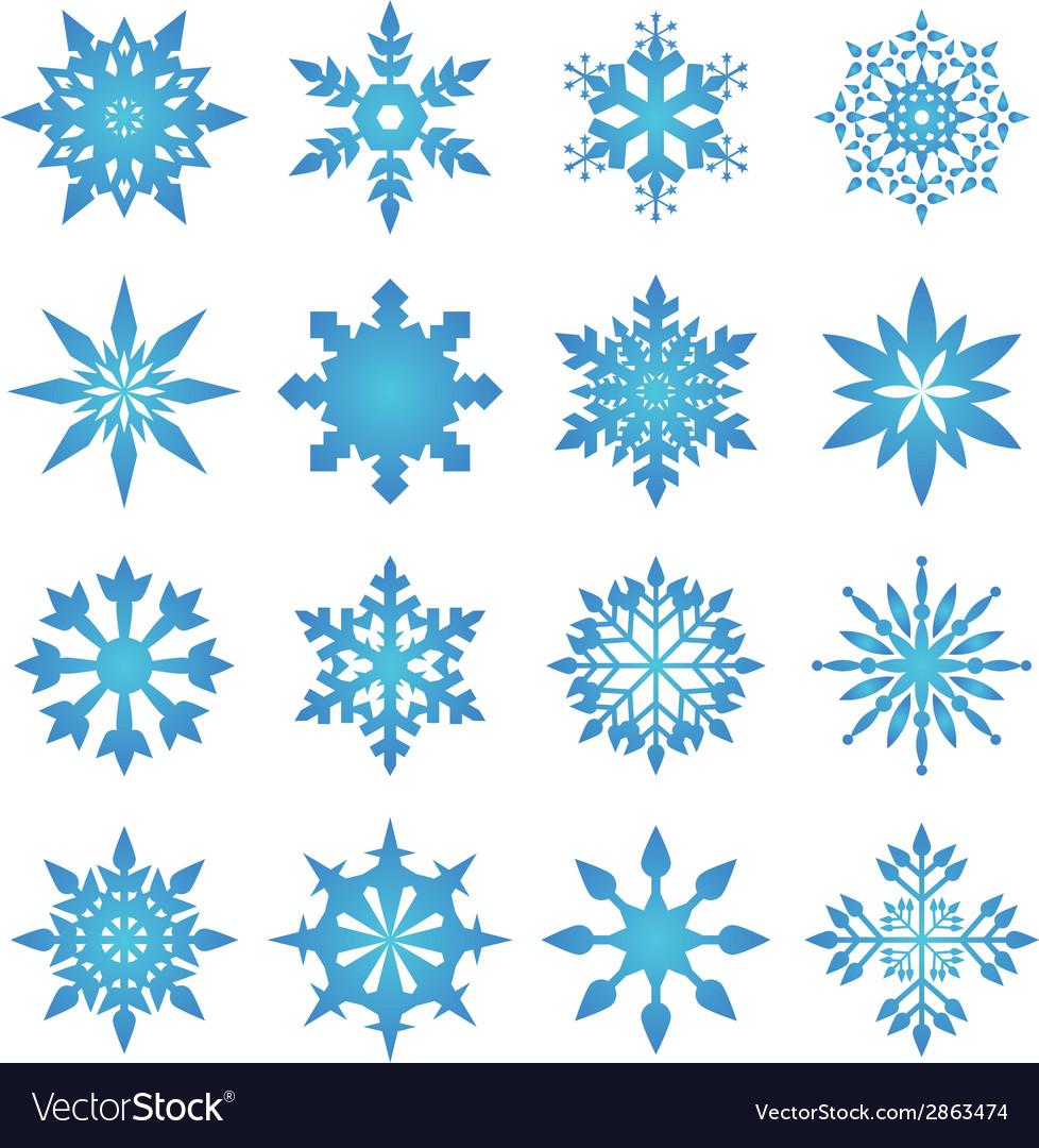 Snowflake blue vector | Price: 1 Credit (USD $1)
