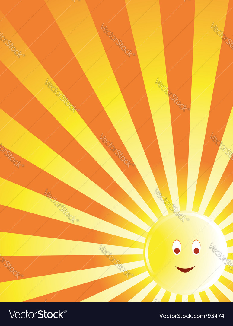 Sun face ray vector | Price: 1 Credit (USD $1)