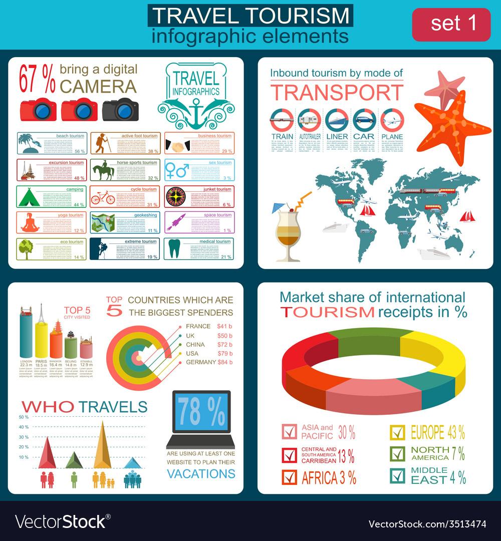 Travel vacations beach resort infographics vector | Price: 1 Credit (USD $1)