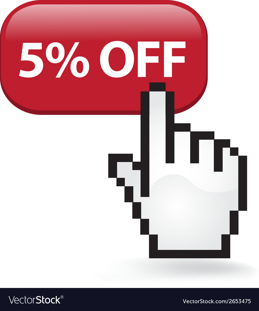 5 off button vector   Price: 1 Credit (USD $1)