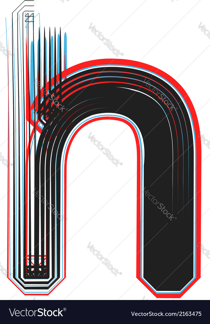 Abstract font letter h vector | Price: 1 Credit (USD $1)