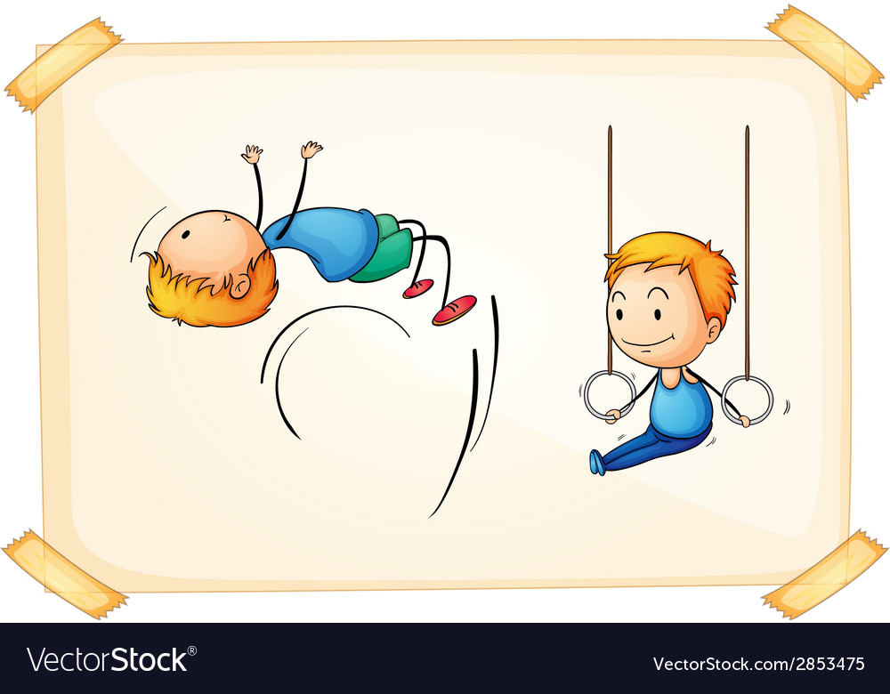 Boy and sports vector | Price: 1 Credit (USD $1)