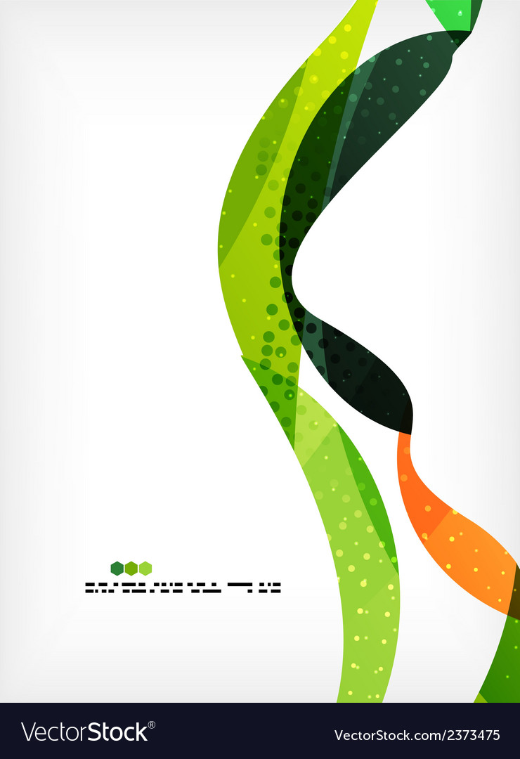 Colorful abstract flowing shapes vector | Price: 1 Credit (USD $1)