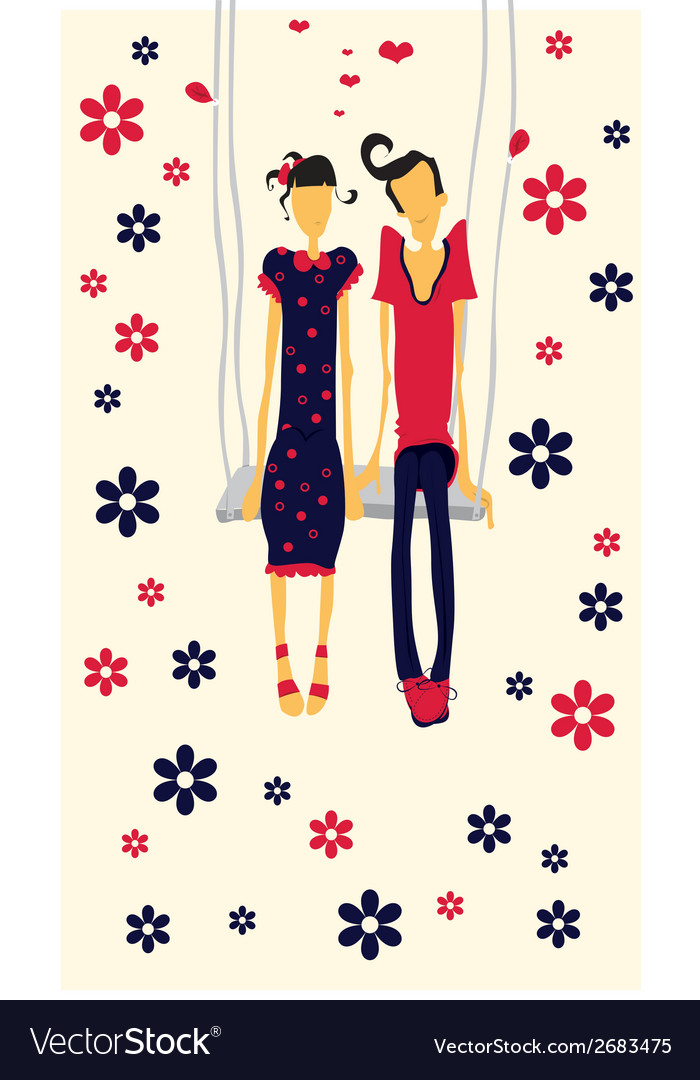 Couple in love card vector | Price: 1 Credit (USD $1)