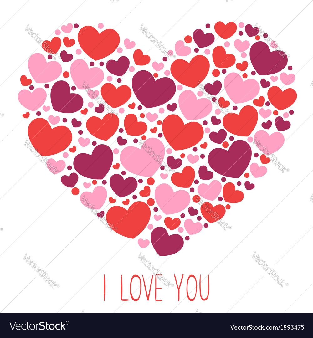 Cute valentine love congratulation card vector | Price: 1 Credit (USD $1)