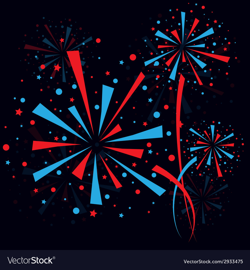 Firework at night vector | Price: 1 Credit (USD $1)