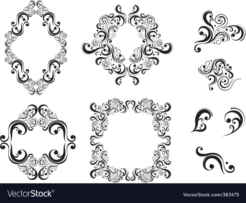 Floral ornaments vector | Price: 3 Credit (USD $3)