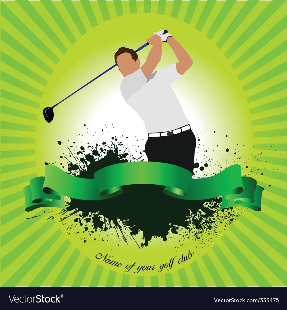 Golf club poster vector