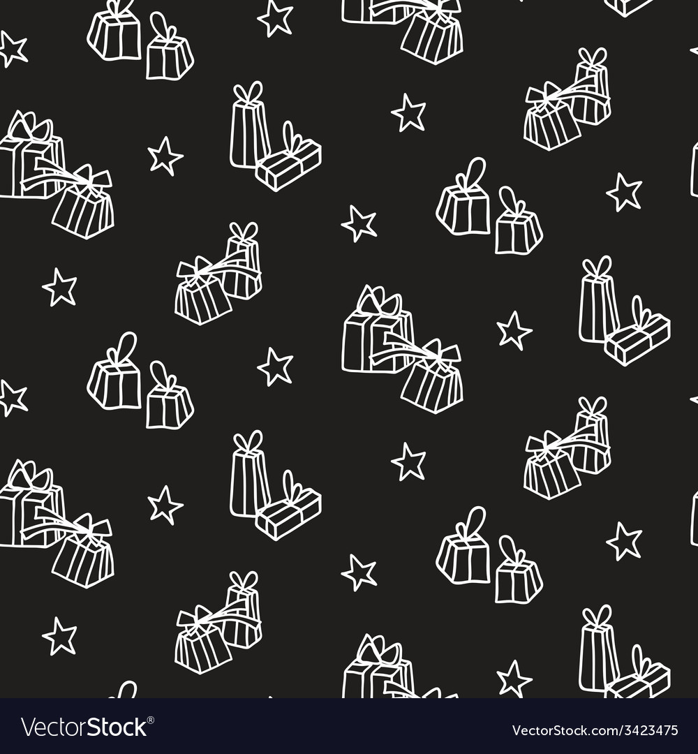 Hand drawn new year and christmas background vector | Price: 1 Credit (USD $1)
