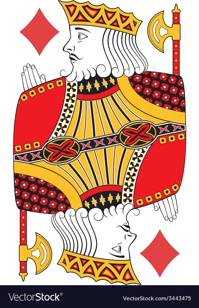 King of diamonds no card vector | Price: 1 Credit (USD $1)