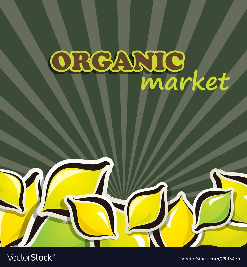 Lemon organic food concept vector | Price: 1 Credit (USD $1)