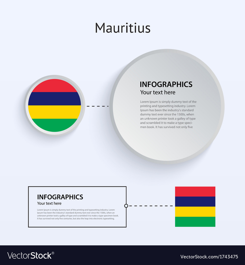 Mauritius country set of banners vector | Price: 1 Credit (USD $1)