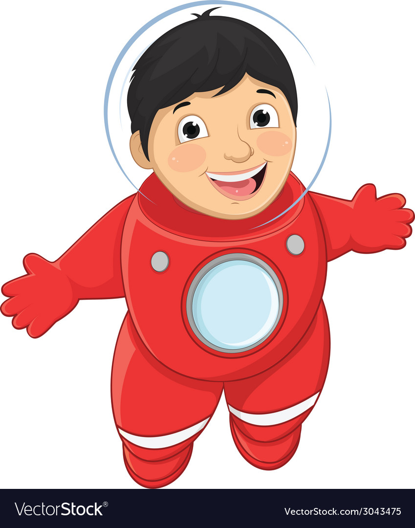 Of a young boy astronaut float vector | Price: 1 Credit (USD $1)
