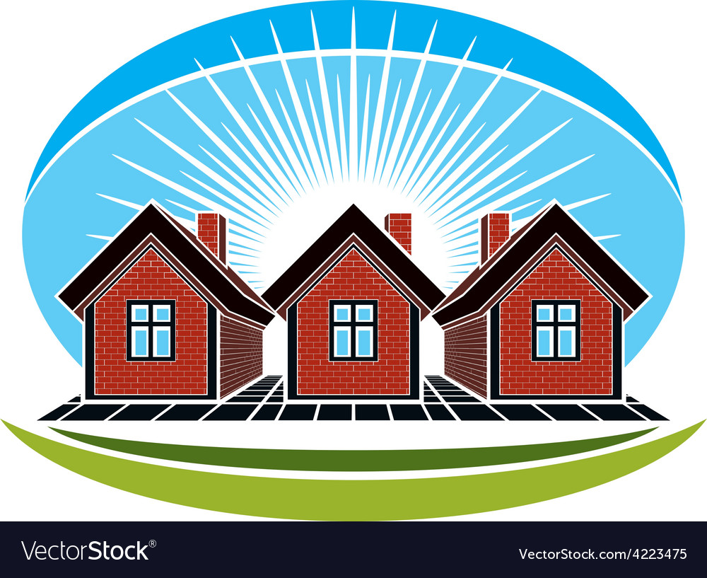 Real estate conceptual picture of houses construct vector | Price: 1 Credit (USD $1)