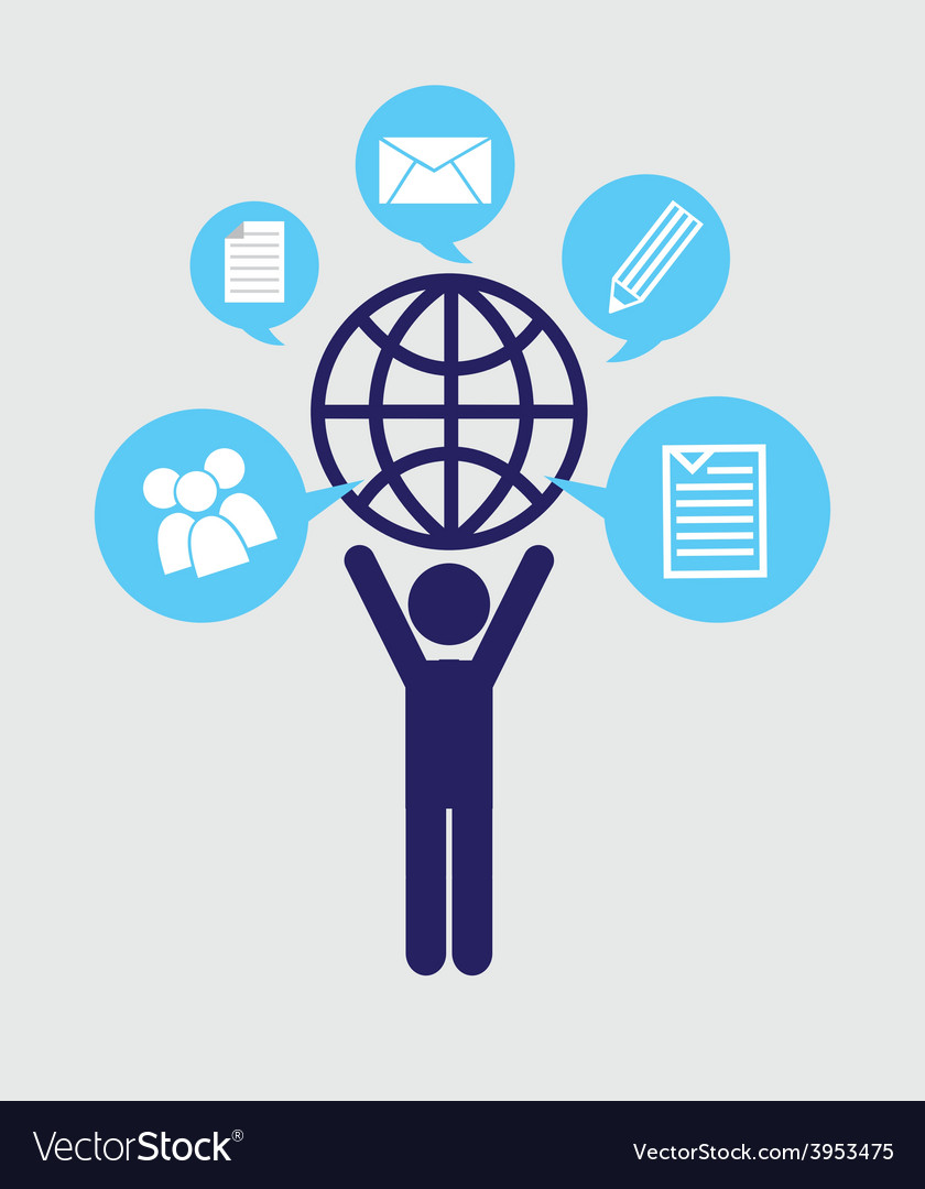Social net working vector | Price: 1 Credit (USD $1)
