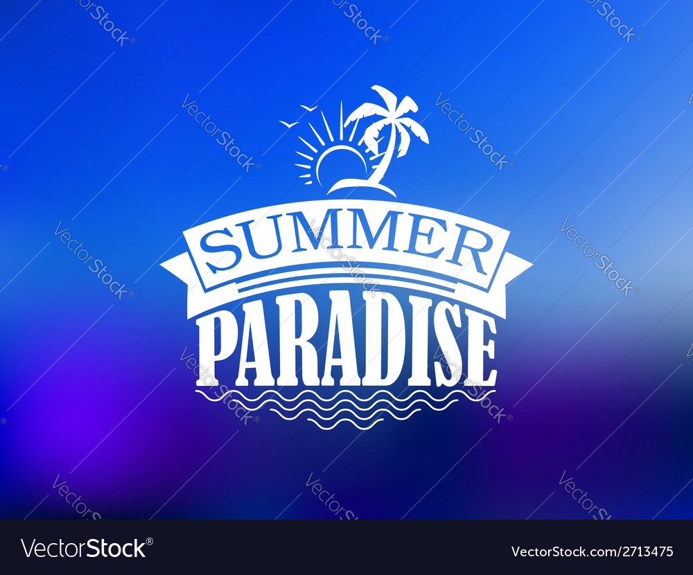 The summer paradise poster design vector | Price: 1 Credit (USD $1)