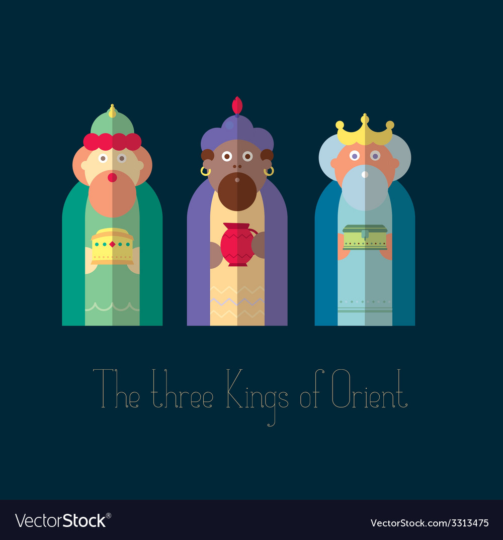 The three kings of orient wisemen vector | Price: 1 Credit (USD $1)