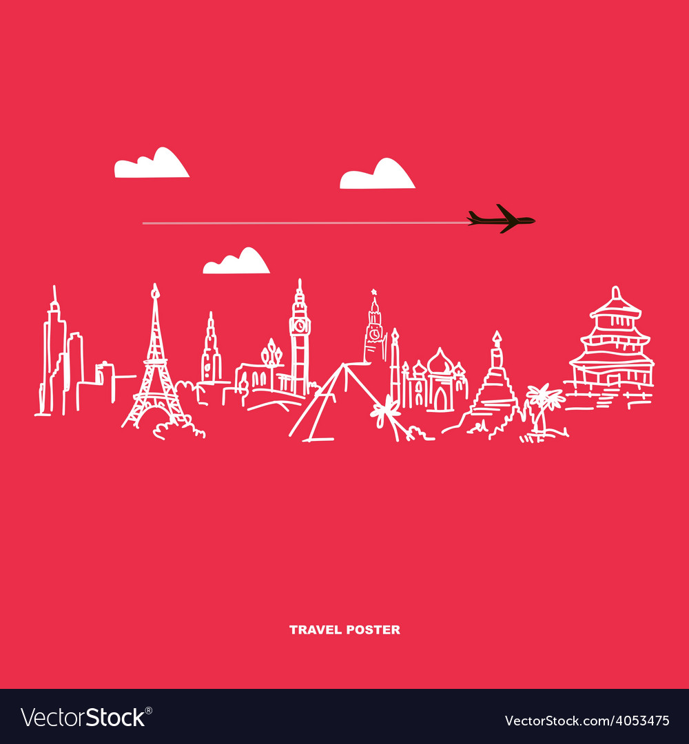 Travel and tourism poster vector   Price: 1 Credit (USD $1)