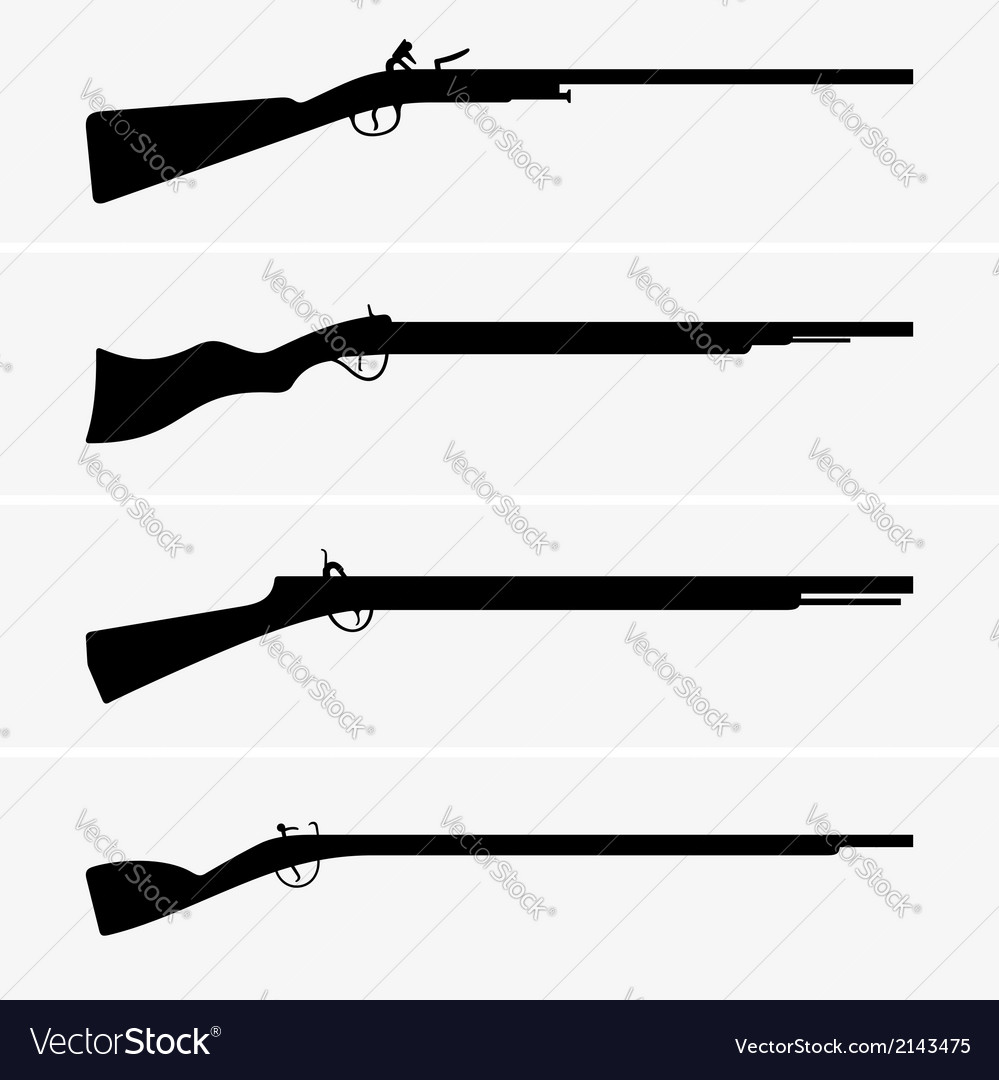 Vintage guns vector | Price: 1 Credit (USD $1)