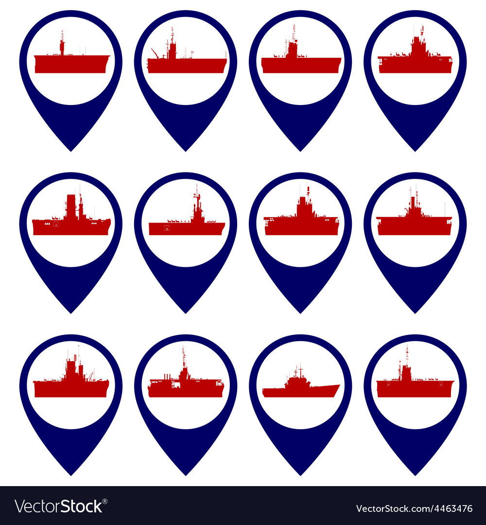 Badges with navy ships vector | Price: 1 Credit (USD $1)