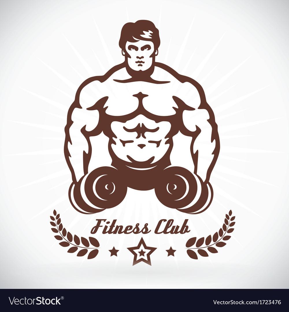 Bodybuilder fitness model vector | Price: 1 Credit (USD $1)