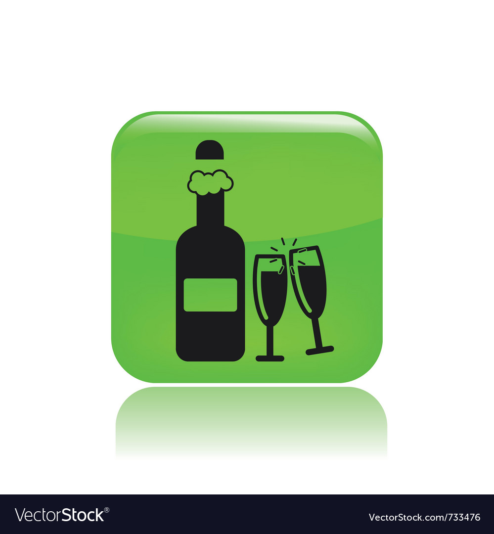 Bottle party icon vector | Price: 1 Credit (USD $1)