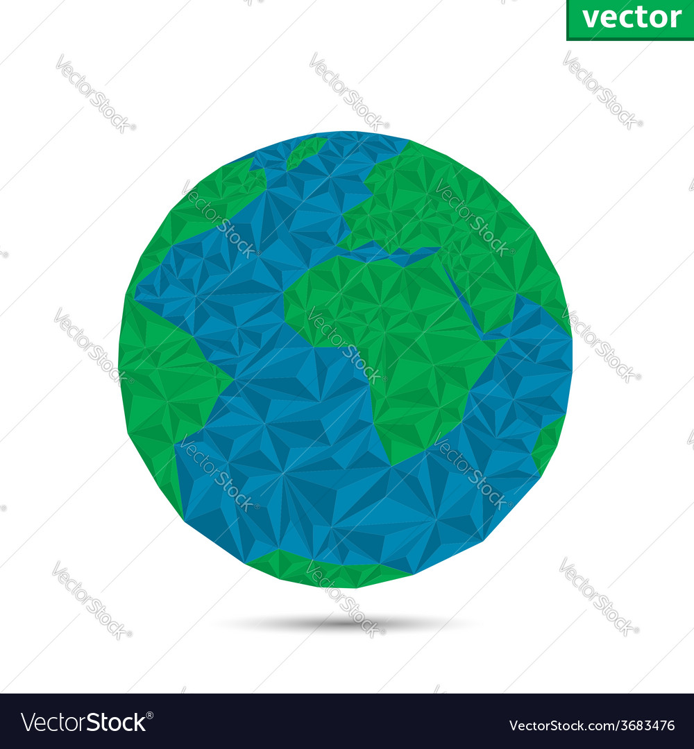 Earth planet vector | Price: 1 Credit (USD $1)