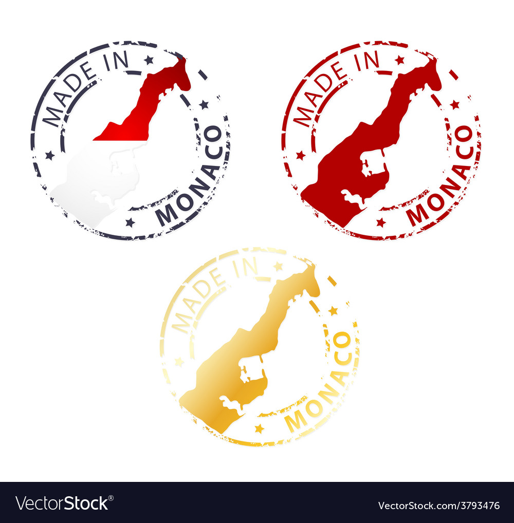 Made in monaco stamp vector | Price: 1 Credit (USD $1)