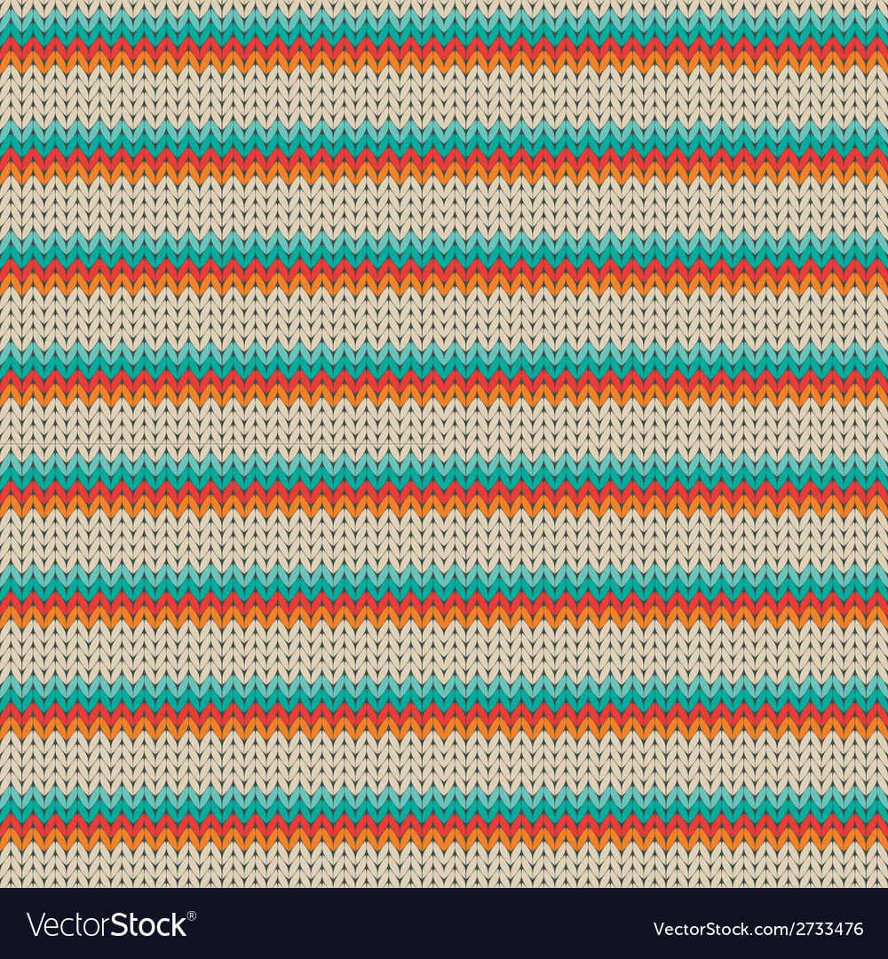 Seamless striped knitting pattern vector | Price: 1 Credit (USD $1)