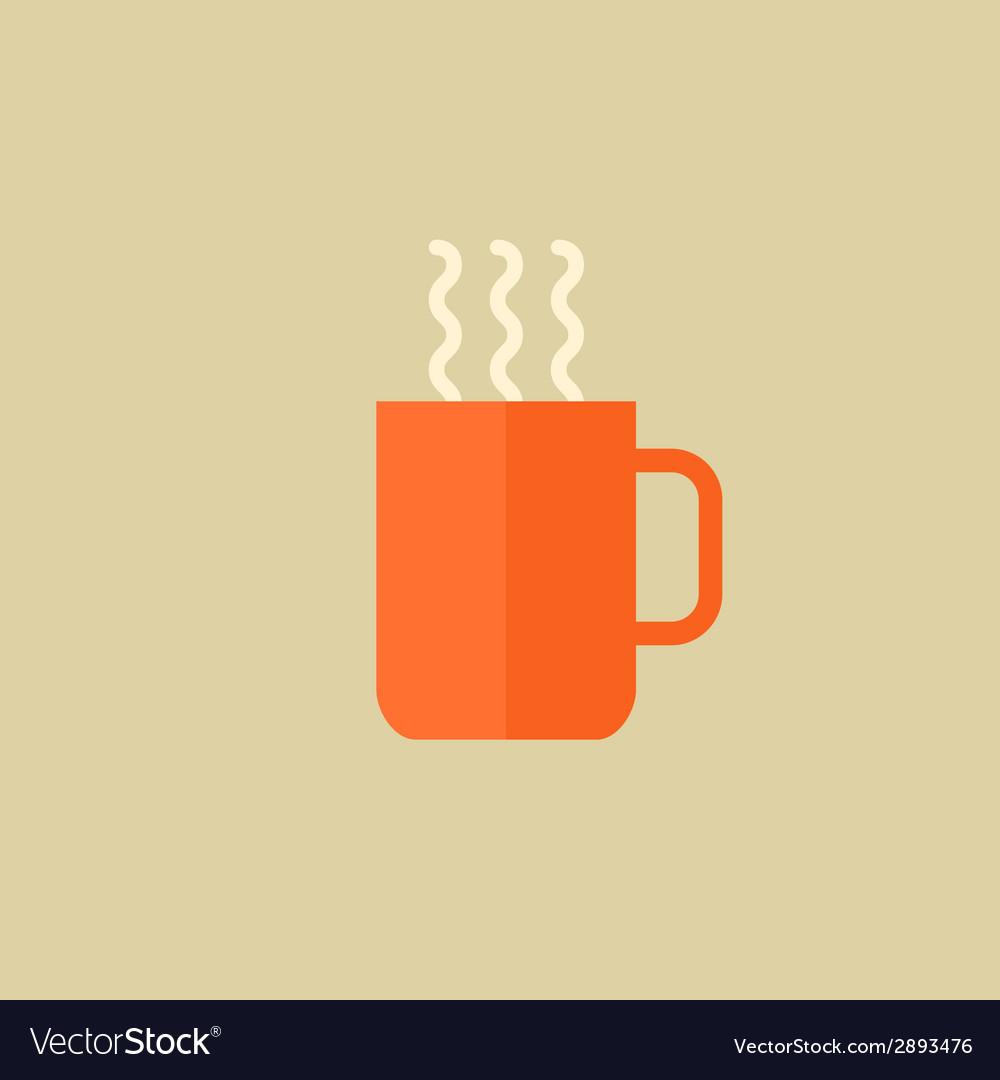 Tea drink flat icon vector | Price: 1 Credit (USD $1)