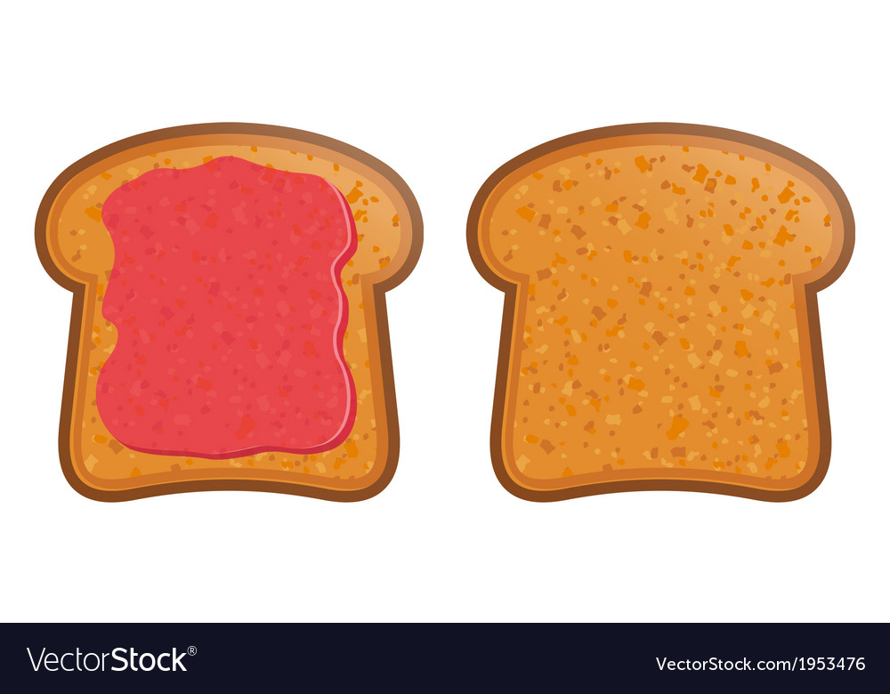 Toast with jam vector | Price: 1 Credit (USD $1)