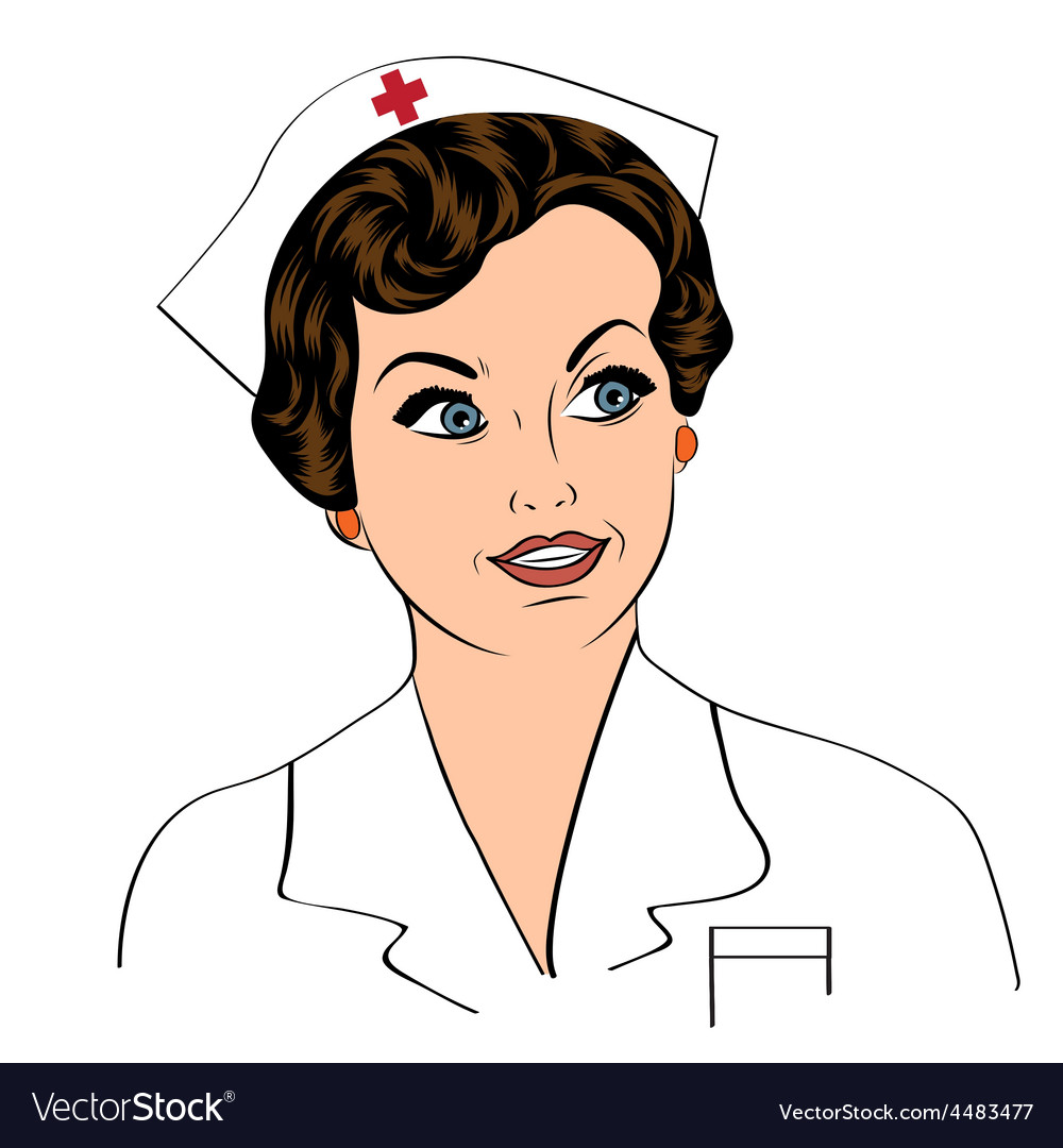 Beautiful friendly and confident nurse smiling vector | Price: 1 Credit (USD $1)