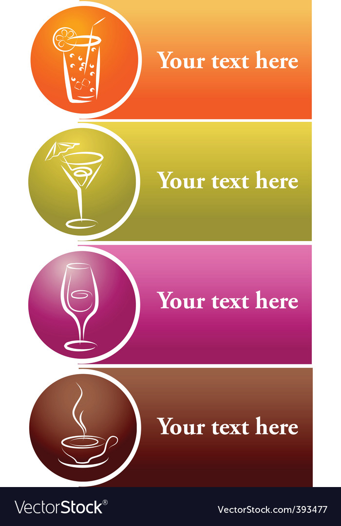 Drinks label vector | Price: 1 Credit (USD $1)